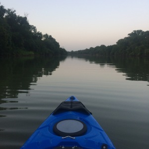 Kayak on the Brazos River