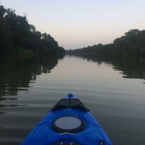 Kayak on the Brazos River